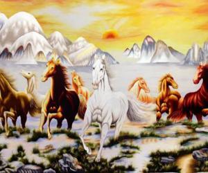 Cách treo tranh Ngựa Mã Đáo Thành Công hợp phong thủy