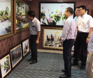 Khai trương phòng tranh thêu tay số 1 Việt Nam tại Bắc Ninh