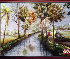 Tranh thêu tay thương hiệu Thêu Việt: Nghệ thuật hoàn hảo