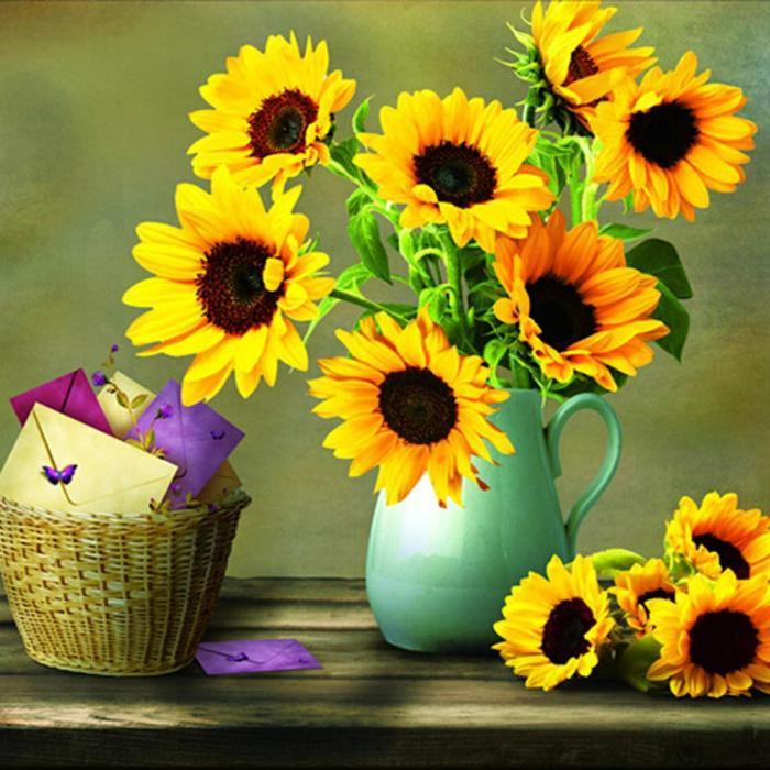y nghia cua tranh theu hoa huong duong