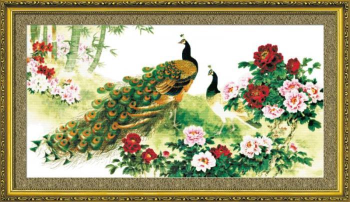y nghia phong thuy cua tranh theu chim cong