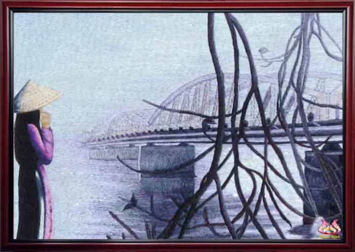 tranh thêu tay cầu tràng tiền MPC0143