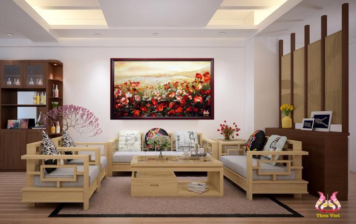 tranh thêu hoa Colico (MHOA0001) 2