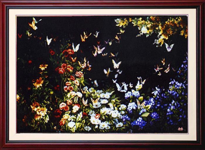 Tranh thêu tay hoa conico 11