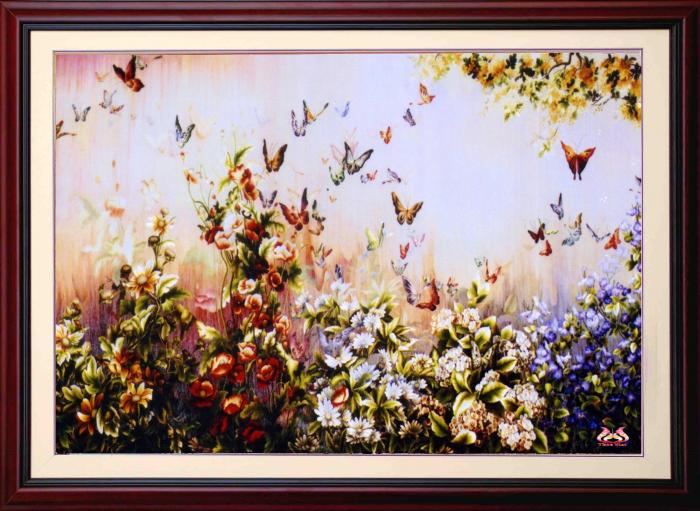 Tranh thêu tay hoa conico 13