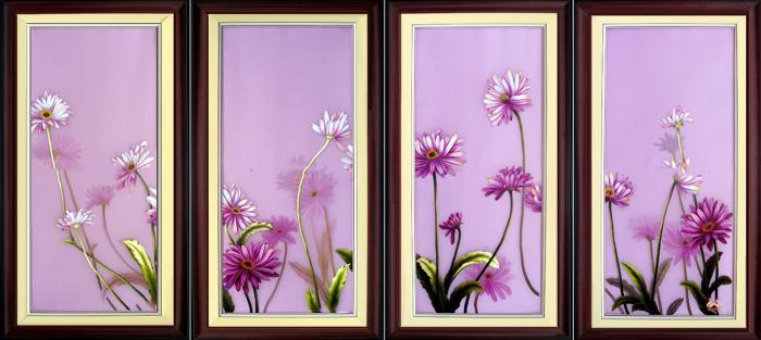 Tranh thêu tay hoa Colico (MHOA0114) 2