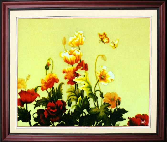 Tranh thêu tay hoa Colico (MHOA0113) 2