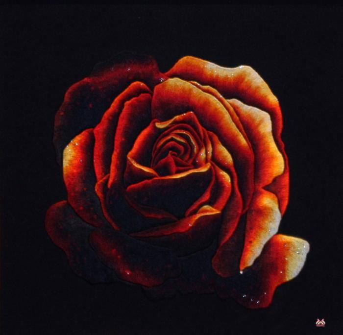 Tranh thêu tay hoa hồng (TVHH11)