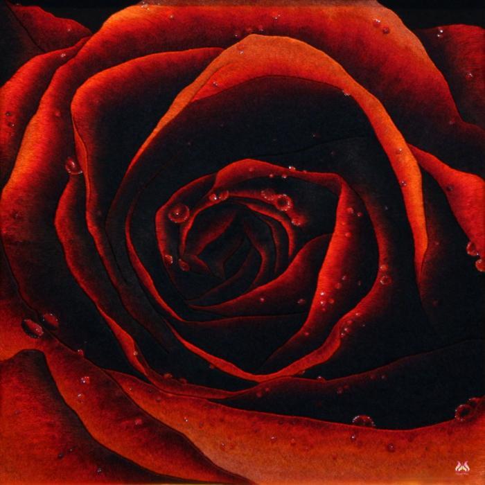 Tranh thêu tay hoa hồng (TVHH12)