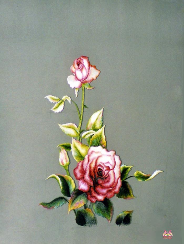 Tranh thêu tay hoa hồng (TVHH08)