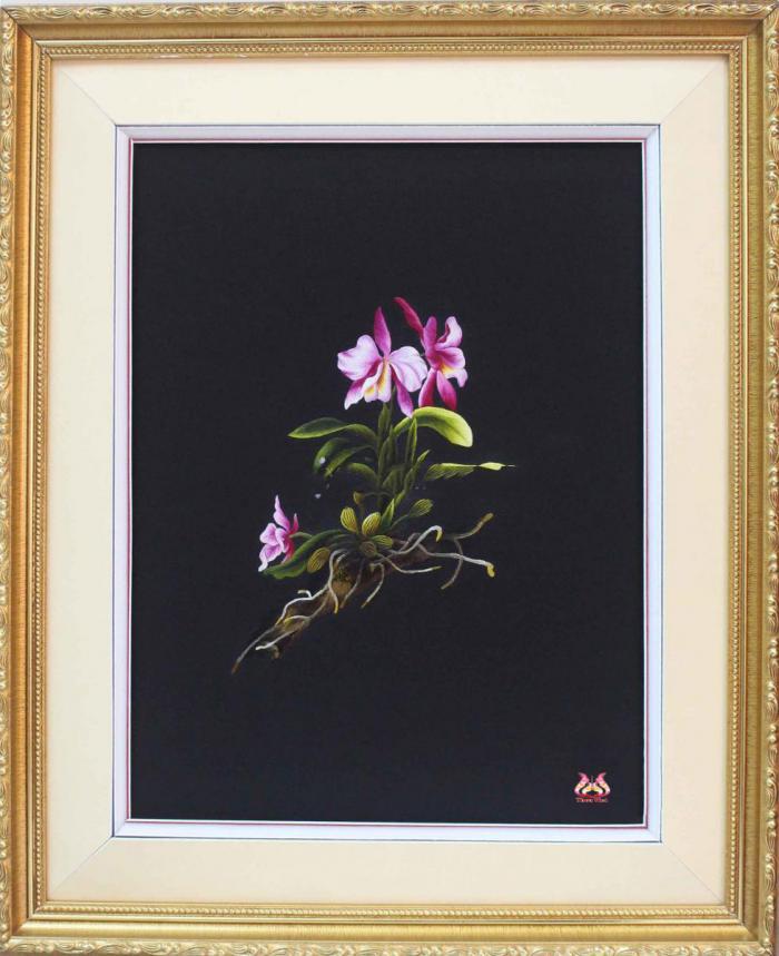 Tranh thêu tay hoa phong lan (TVHPL23)