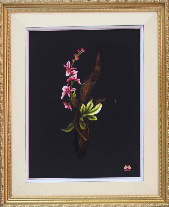 Tranh thêu tay hoa phong lan (TVHPL24)