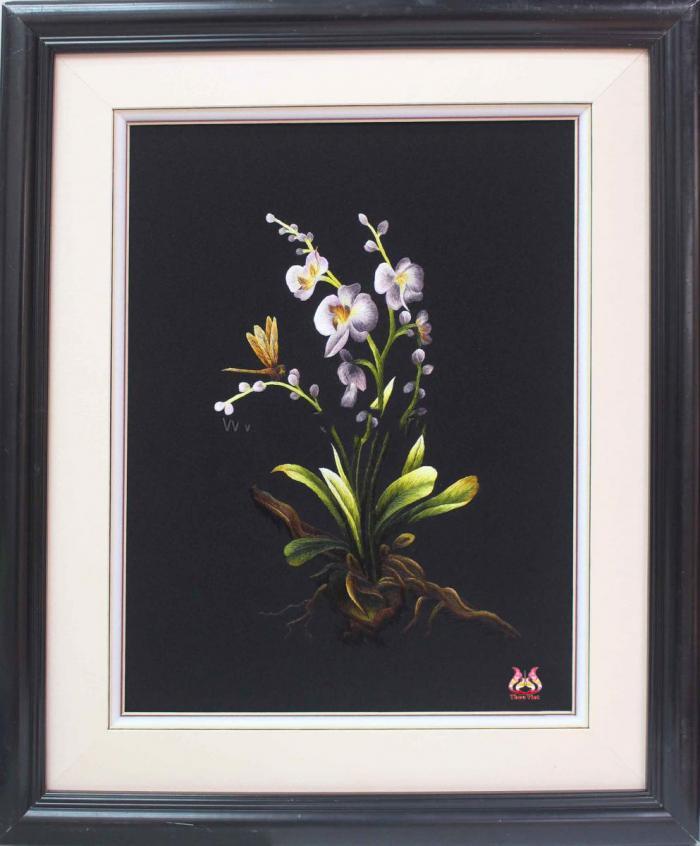 Tranh thêu tay hoa phong lan (TVHPL28)