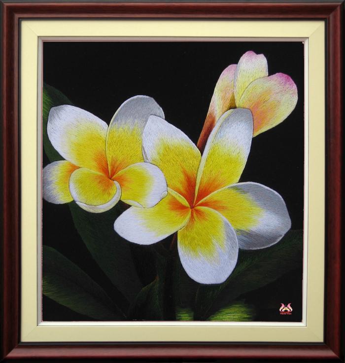 Tranh thêu tay hoa phong lan (TVHPL03)