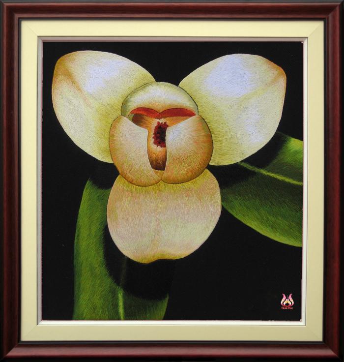 Tranh thêu tay hoa phong lan (TVHPL04)