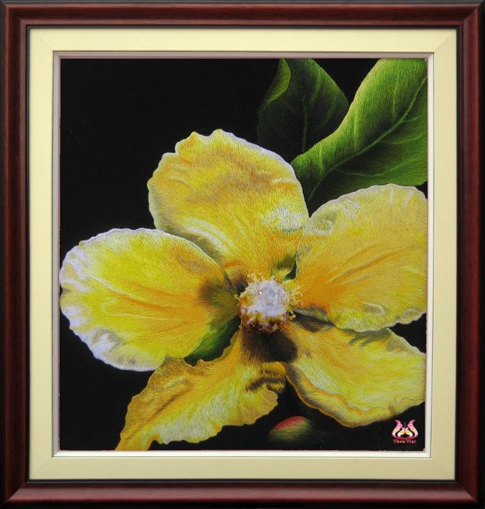 Tranh thêu tay hoa phong lan (TVHPL07)