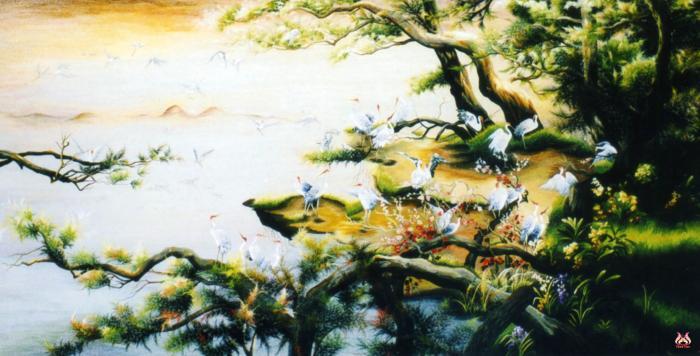 Tranh thêu tay phong cảnh (TVPC121)