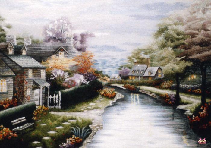 Tranh thêu tay phong cảnh (TVPC125)