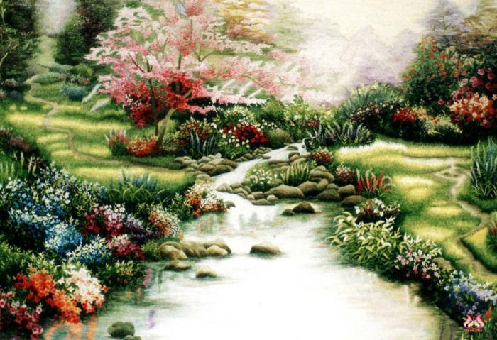 Tranh thêu tay phong cảnh (TVPC143)