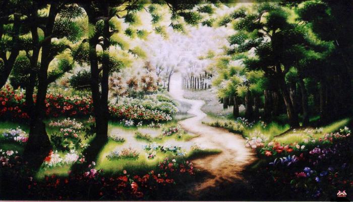 Tranh thêu tay phong cảnh (TVPC166)