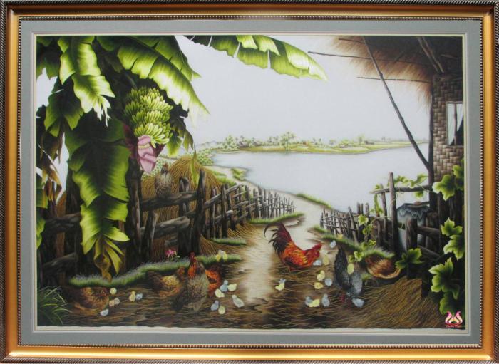 Tranh thêu tay phong cảnh (TVPC184)