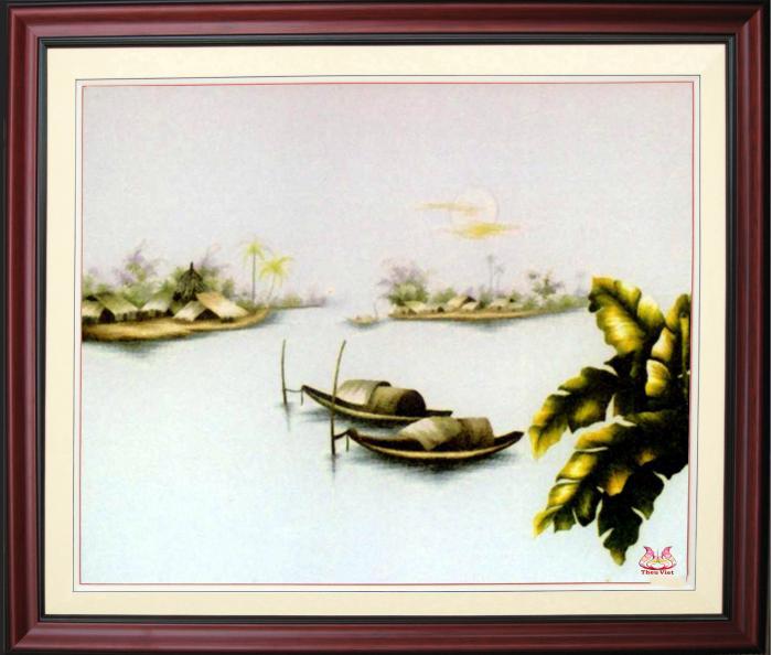 Tranh thêu tay phong cảnh (TVPC186)