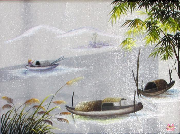 Tranh thêu tay phong cảnh (TVPC187)