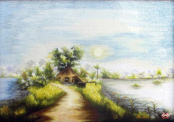 Tranh thêu tay phong cảnh (TVPC195)