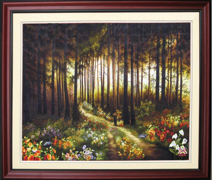 tranh thêu tay Rừng cây