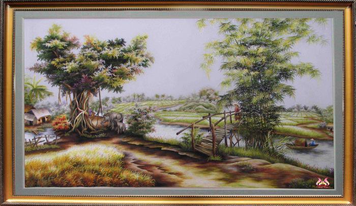 Tranh thêu tay phong cảnh (MPC0021) 2
