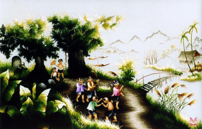 tranh thêu tay phong cảnh 005