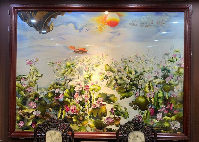 tranh thêu tay ước nguyện ngàn năm đáng giá 400 triệu