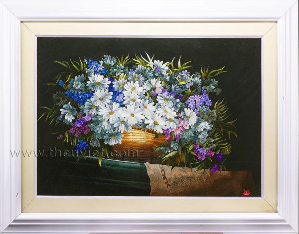 tranh thêu tay tĩnh vật hoa MHOA0062
