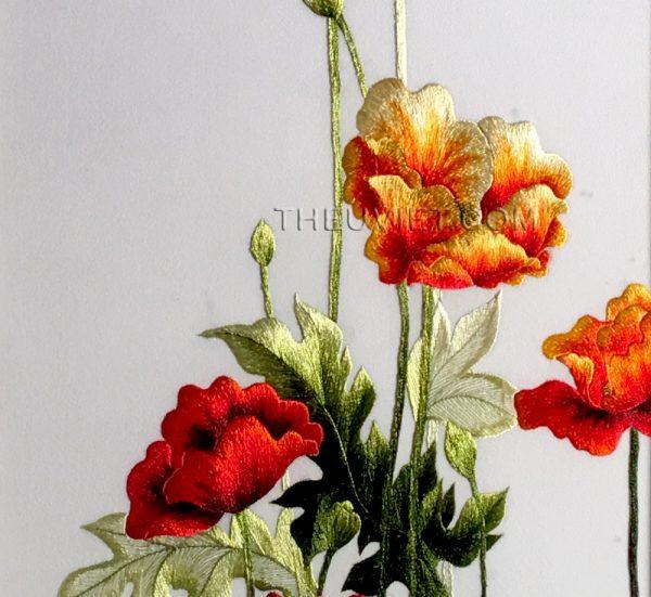chi tiết tranh thêu hoa conico MHOa0029