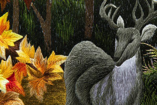 Chi tiết tranh thêu tay phong cảnh MPC0003