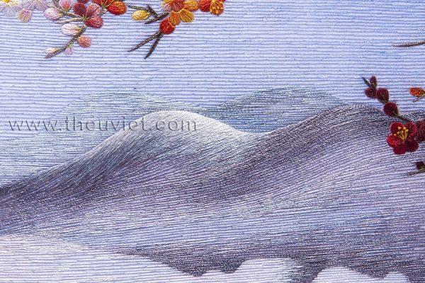 Tranh thêu tay phong cảnh Sắc Xuân (MPC0046) 2