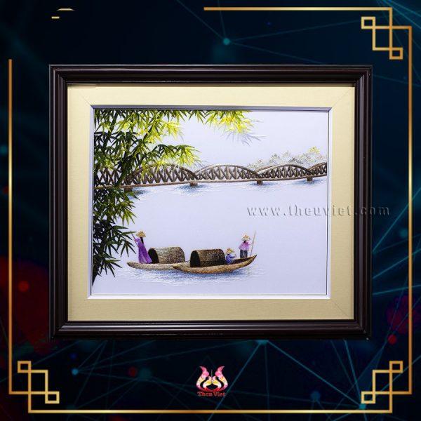 Tranh thêu phong cảnh Cầu Tràng Tiền (MPC0102) 1