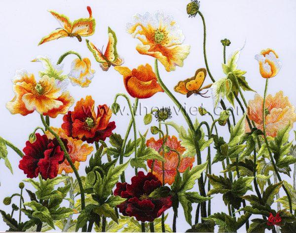 Tranh thêu tay hoa Colico (MHOA0057) 2
