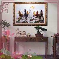 Tranh thêu tay Mã Đáo Thàng Công (MPT0057) 1