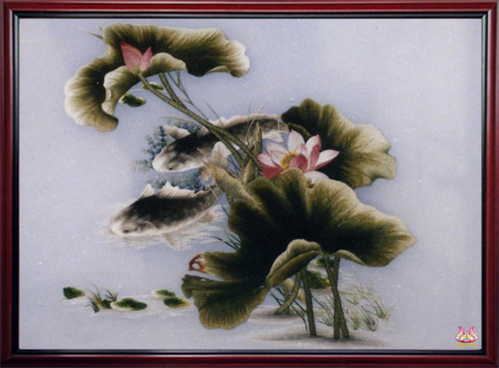 Cá chép và hoa sen (MSEN0076)