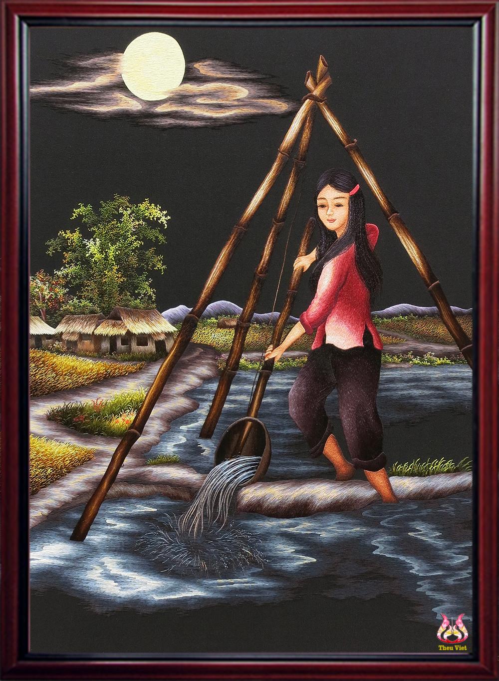 Cô gái tát nước đầu đình (MPC0114)