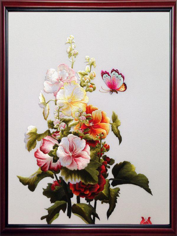 Tranh thêu hoa bướm (MHOA0111) 1