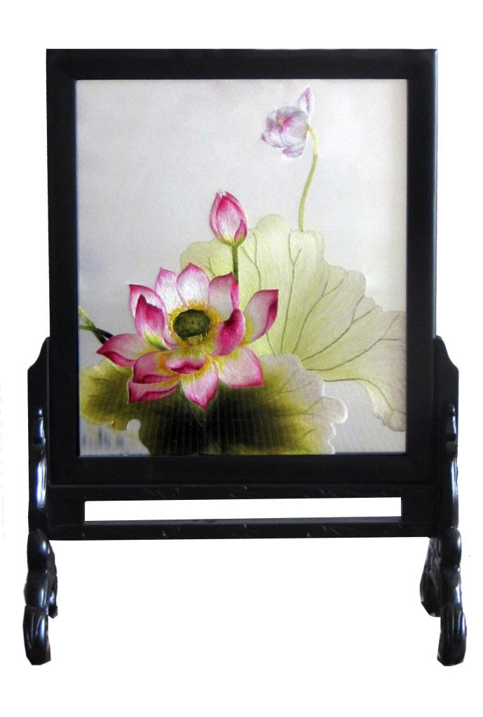 Tranh thêu tay hoa sen (MSEN0074)
