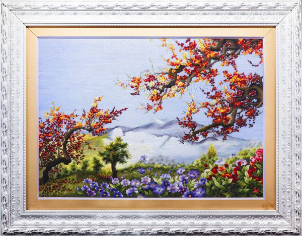 Tranh thêu tay phong cảnh Sắc Xuân (MPC0046) 1