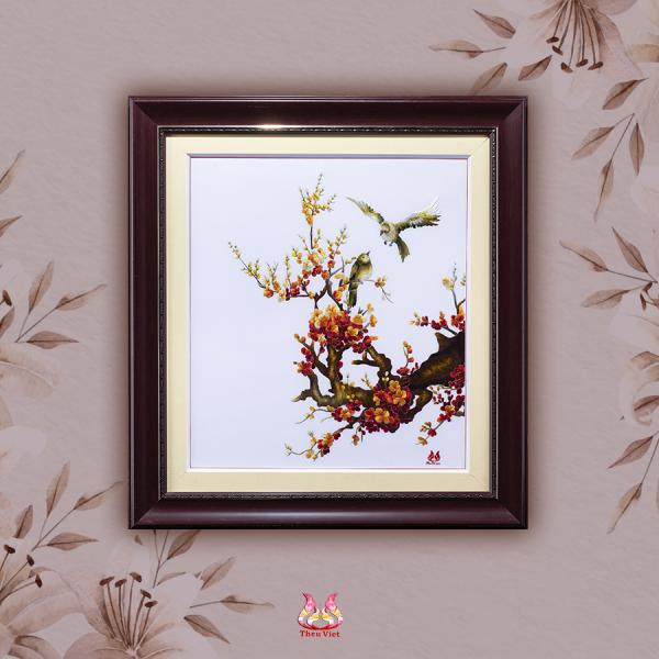 Tranh thêu Hoa Đào (MHOA0100) 1