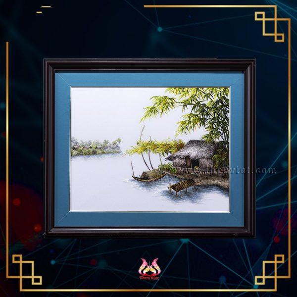 Tranh thêu tay phong cảnh quê hương (MPC0252) 1