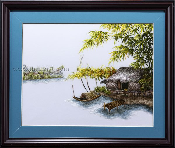 tranh thêu tay phong cảnh quê hương MPC0252