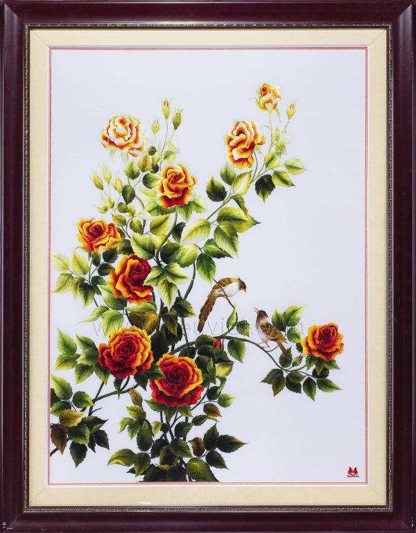 Tranh thêu tay Hoa Hồng (MHOA0084) 1