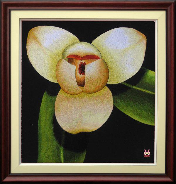 Tranh thêu tay hoa phong lan (MHOA0094) 1