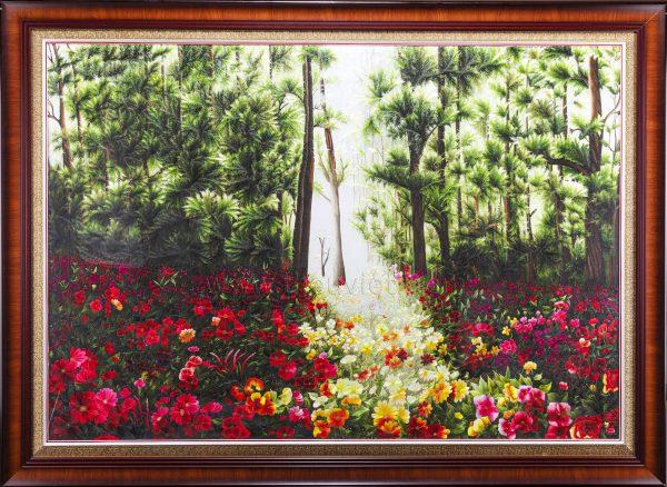 Tranh thêu tay phong cảnh Rừng Hoa (MPC0032) 1